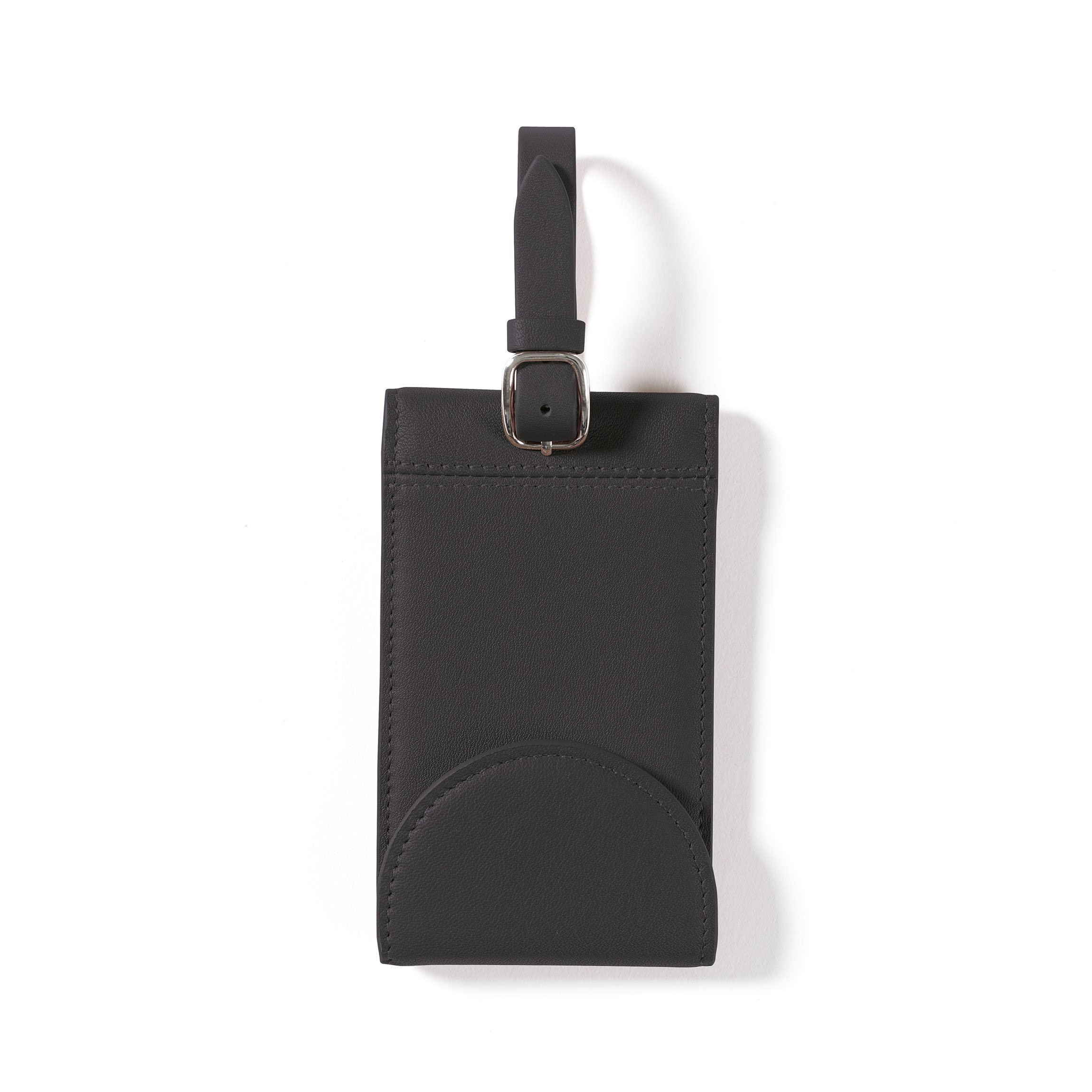 Snap Luggage Tag - Full Grain Leather Leather - Black Onyx ()