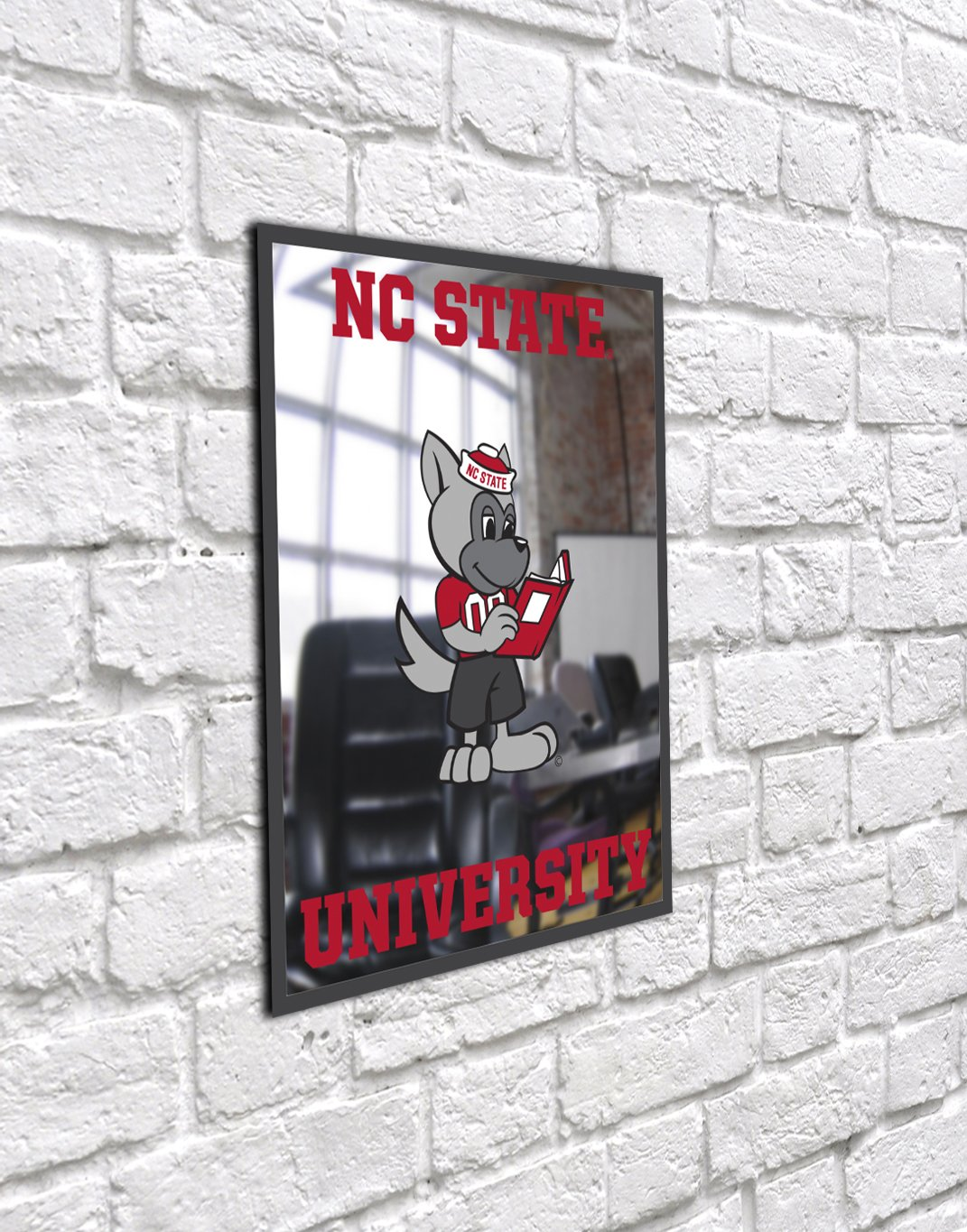 Youth Unbreakable Fan Mirror One Size NCAA North Carolina State Wolfpack Chrome