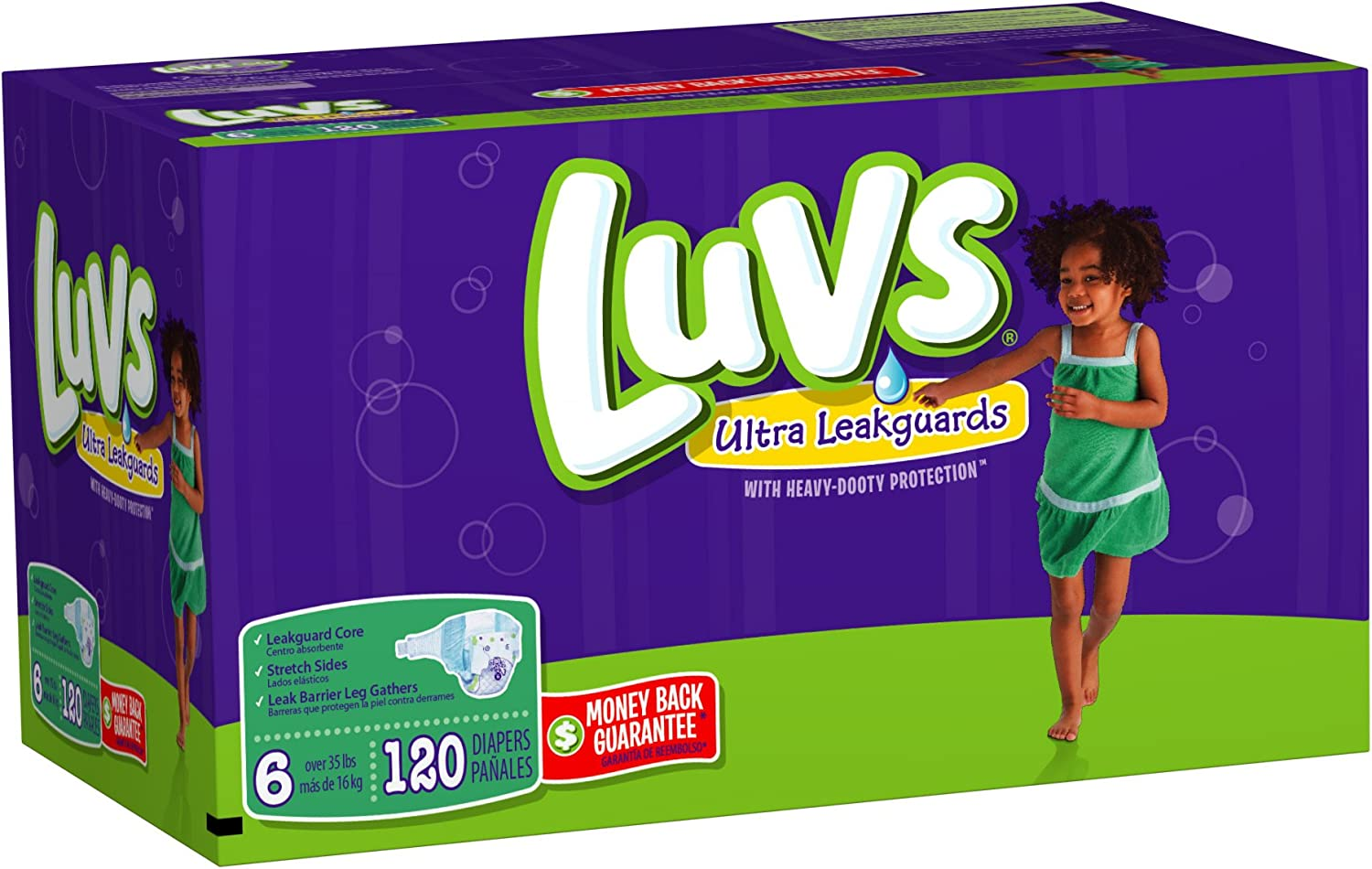 Luvs With Ultra Leakguards Size 6 Diapers 120 Count