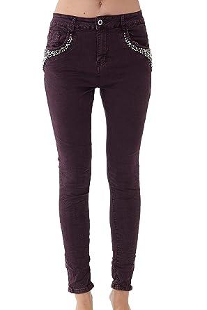 Vestino - Pantalones Vaqueros para Mujer con Bolsillo de ...