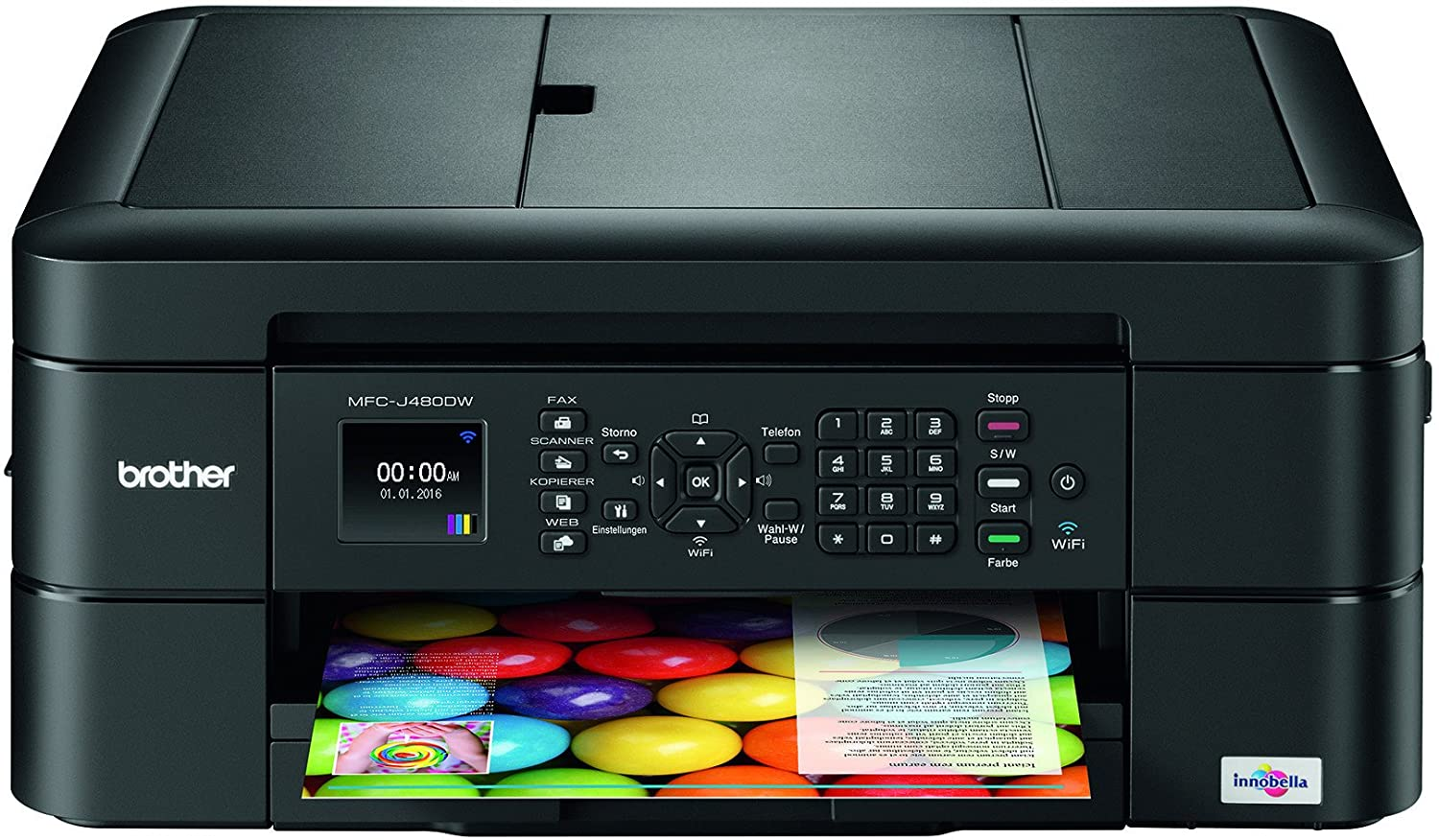 amazon com brother mfc j480dw wireless inkjet color all in one