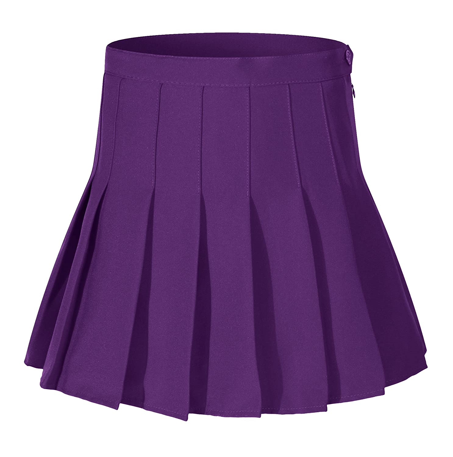 Women High waisted Solid Pleated Mini Tennis Skorts Or Skirt 13 Colors 2 Styles yiwu yucong factory HTSK06