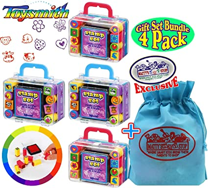 Ink Stamp Set Mini Self Inking Pad Stamps Party Toy Gifts Kids Animals Stamper