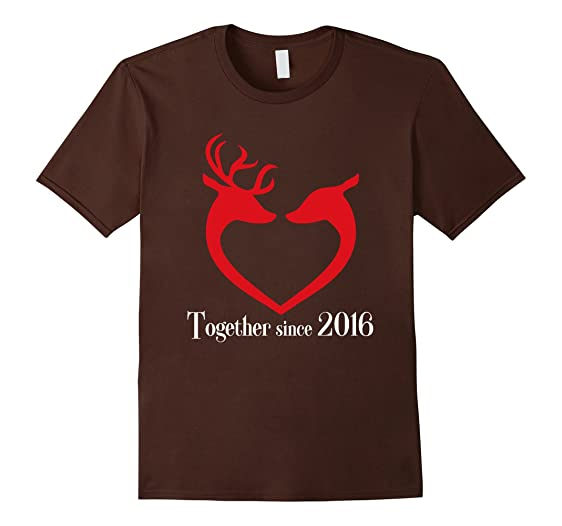 mens cool t shirt best couple since 2016 great christmas gifts 2xl brown