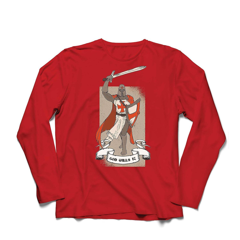 The Knight Templar Crusaders Red Cross lepni.me Men/'s T-Shirt God Wills it