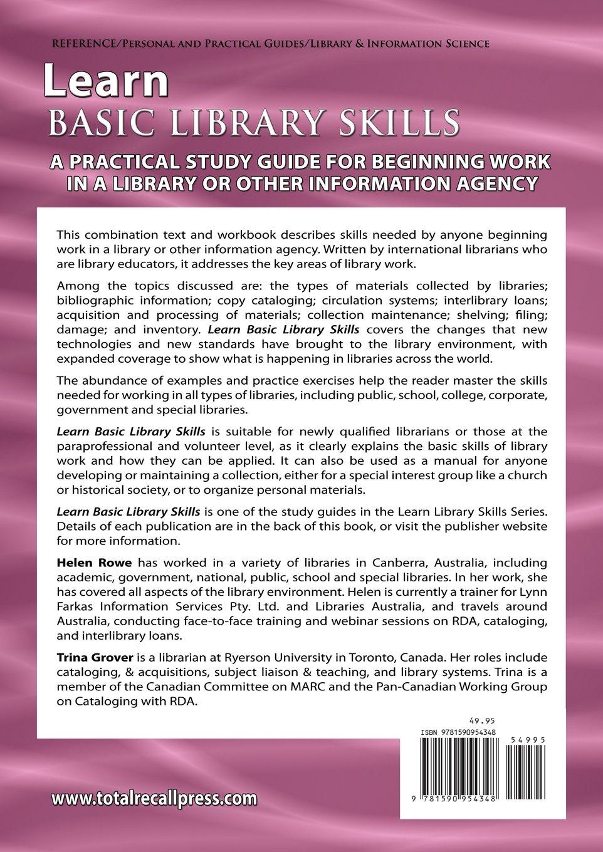 com learn basic library skills international edition com learn basic library skills international edition 9781590954348 helen rowe trina grover books