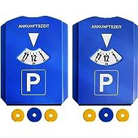 Kaufmann Neuheiten AZINN602 parkeerschijf met 3 winkelwagenchips (2 stuks) blauw set van 2