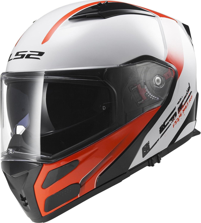 XL LS2 Motorradhelm FF324 METRO EVO RAPID MATT Schwarz Orange P//J Schwarz//Orange