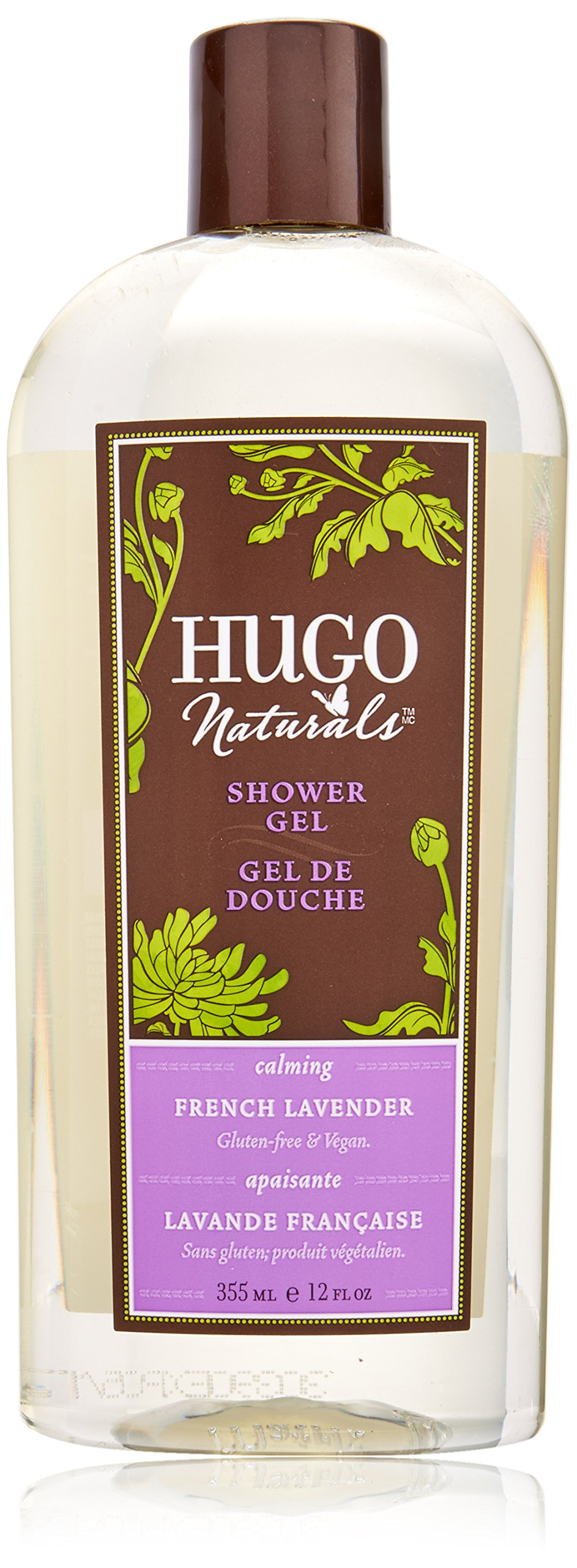 Hugo Naturals Shower Gel, French Lavender, 12 Ounce Bottle