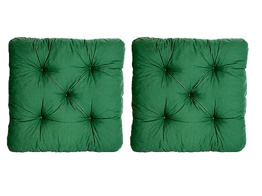 Ambientehome 90362 - Almohada 2er Set Pastillas Verdes ...