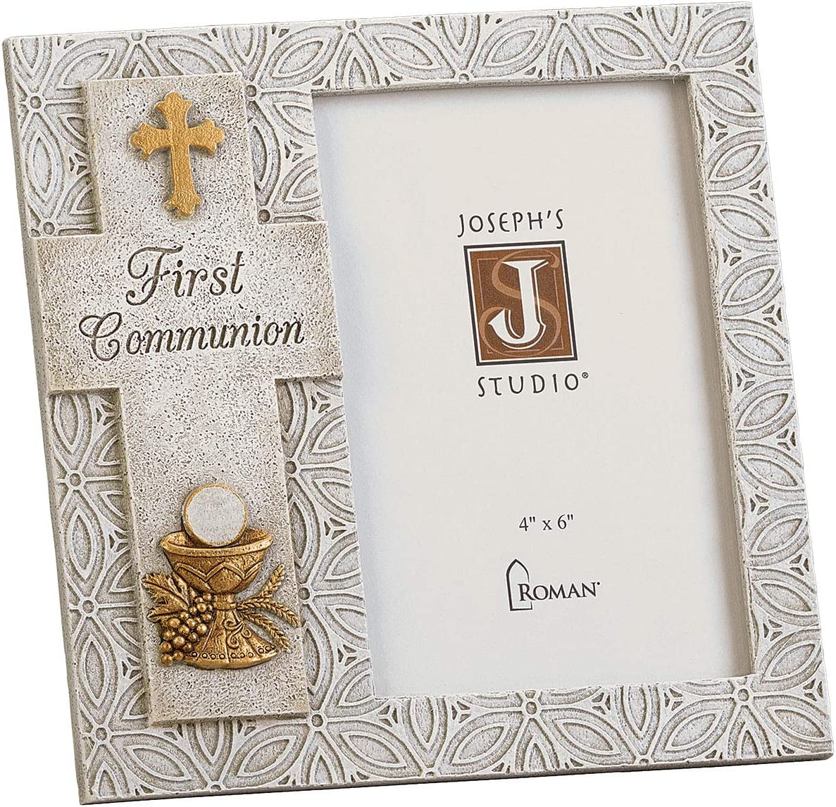 Joseph S Studio By Roman First Communion Picture Frame For 4 X 6 Photo Vertical Tabletop Or Desk Display 7 25 H Resin And Stone Decorative Collection Durable Long Lasting Amazon Com