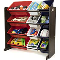 Humble Crew Storage Organizer, Espresso/Red/White/Blue