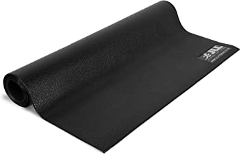 Universal Purpose Luxury Fitness Rubber Mat for Treadmills and Other Equipment (Large)