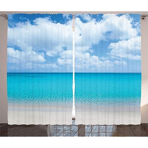 Window Curtains With Ocean Scene Amazon Com