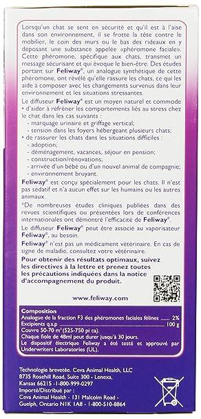 Amazon.com : Ceva Feliway Plug-In Diffuser with Refill, 48 mL ...