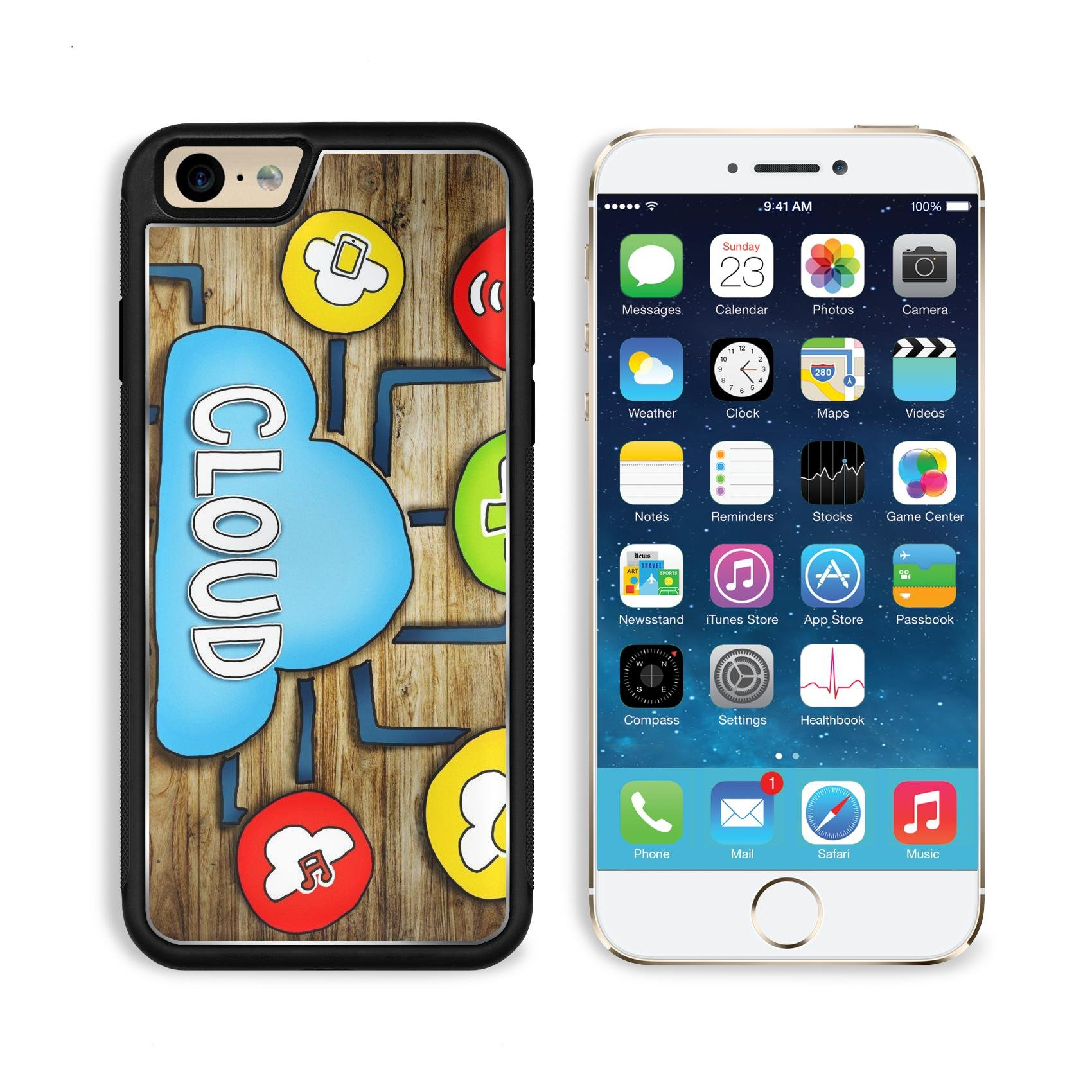 Luxlady Apple iPhone 6 iPhone 6S Aluminum Backplate Bumper Snap iphone6/6s Case IMAGE ID: 34402076 Aerial View of People and Cloud Computing Concepts by Luxlady