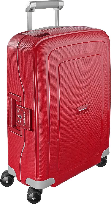 Samsonite S'Cure Spinner S Equipaje de mano, 55 cm, 34 L, Rojo (Crimson Red)