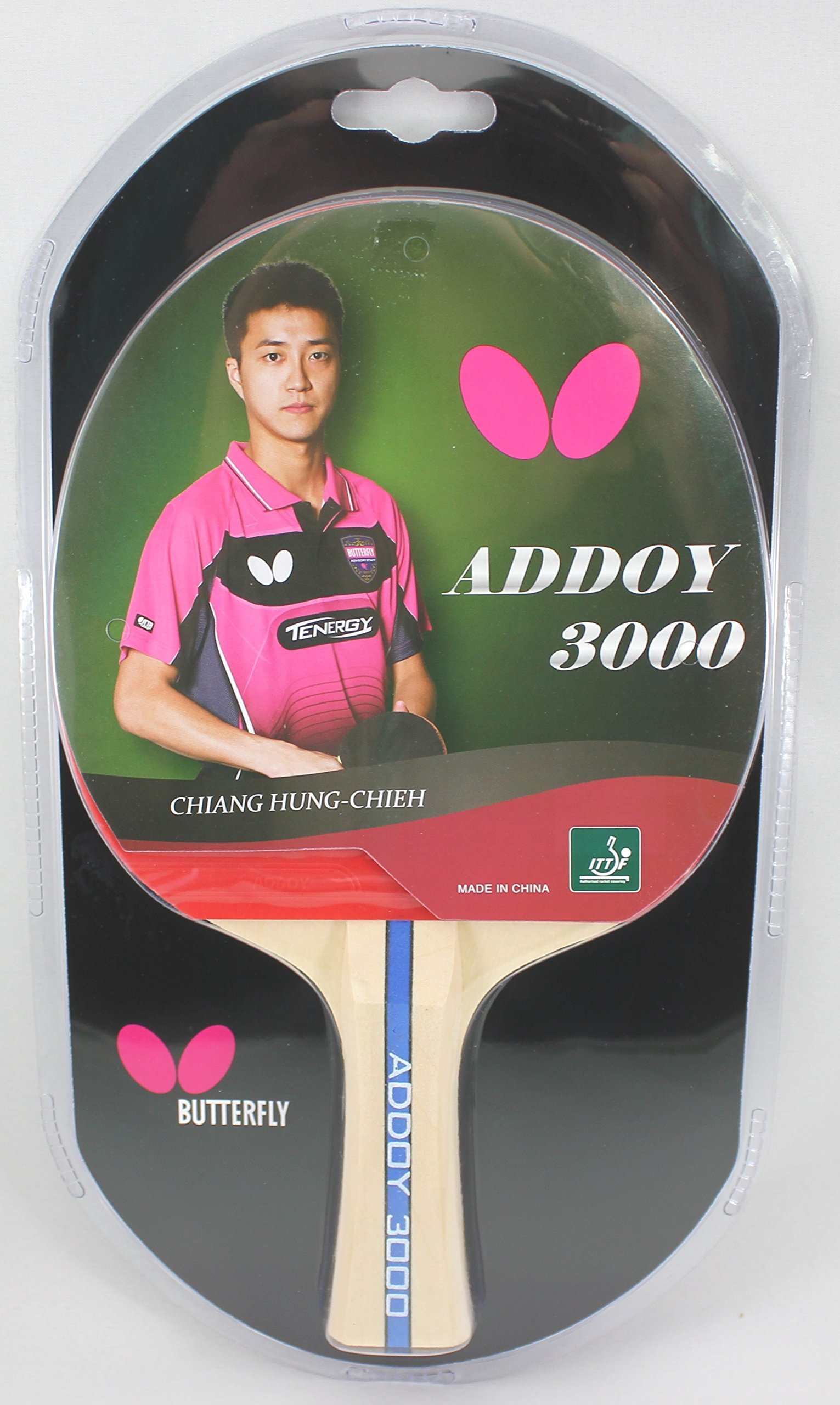Butterfly Addoy Table Tennis Racket – ITTF Approved Ping Pong Paddle – Attack with Great Control