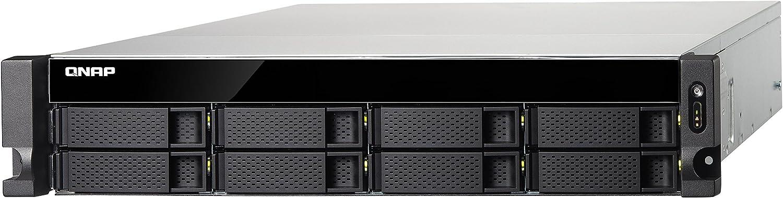 QNAP TS-853BU Ethernet Bastidor (2U) Negro NAS - Unidad Raid (Unidad de Disco Duro, SSD, Serial ATA II, Serial ATA III, 1,50 GHz, Intel® Celeron®, J3455, 1x2+2x1,4x1)