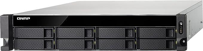 QNAP TS-853BU NAS Bastidor (2U) Ethernet Negro - Unidad Raid (Unidad de Disco Duro, SSD, Serial ATA II, Serial ATA III, Intel® Celeron®, J3455, 1,50 GHz, 1x2+2x1,4x1)