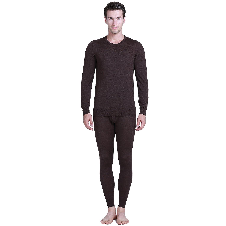 Paradise Silk 85% Silk 15% Cashmere Knit Men Thermal Long Johns Set CSMLJS131181208-USL-DCO