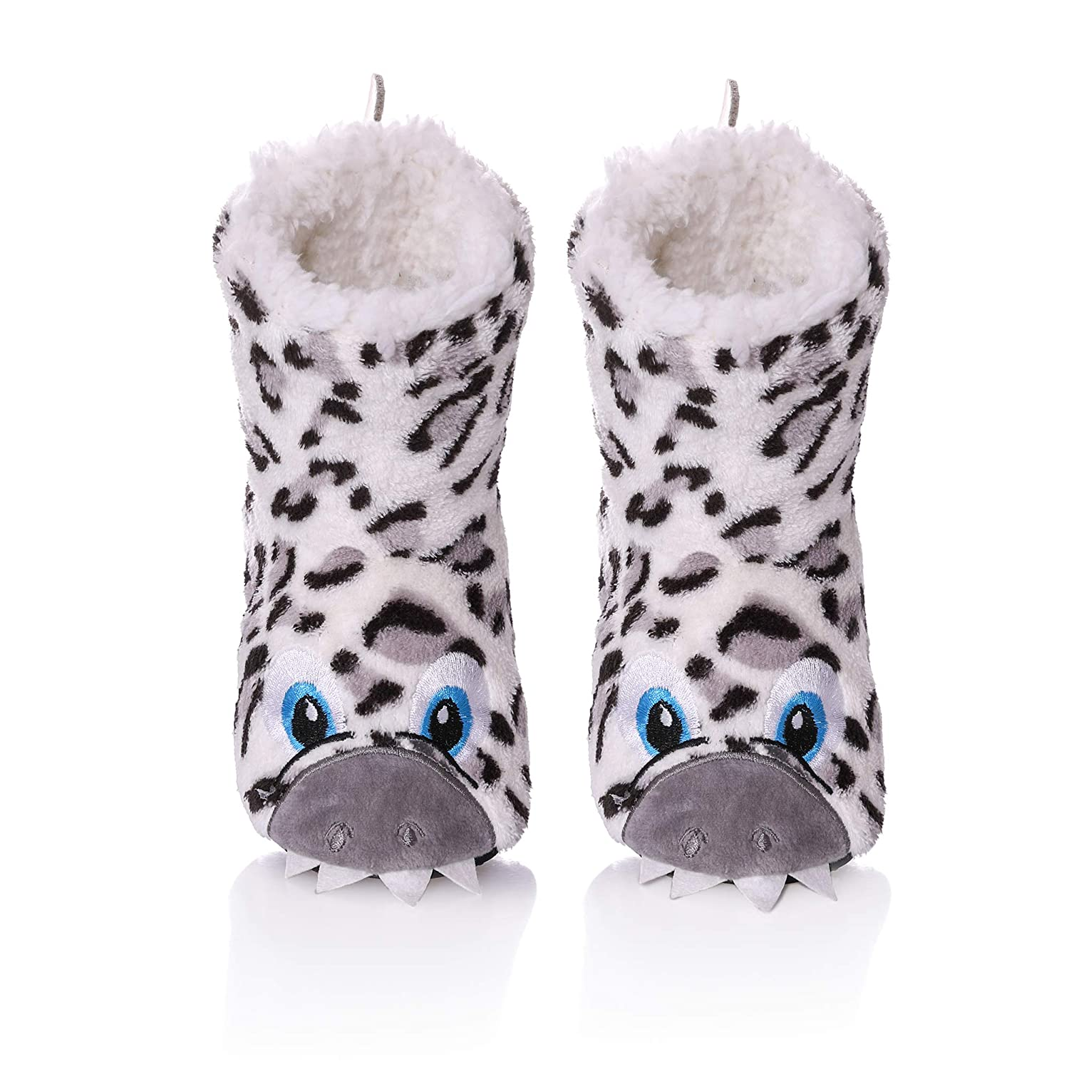 TRUEHAN Unisex 3D Cute Animal Lightweight Toddler Kids Bootie Slippers for Girls Boys Indoor//Outdoor Plush Soft Warm Non-Slip House Shoes