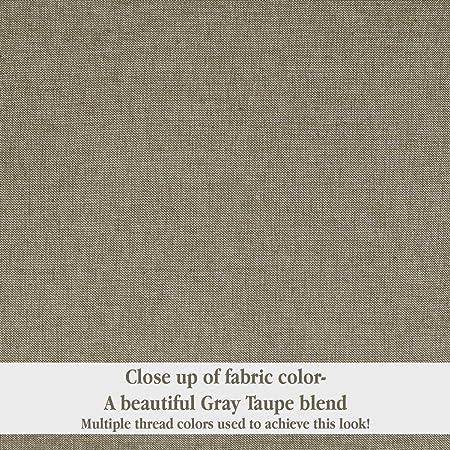 Piper Classics Ruffled Chambray Taupe-Grey Valance 16×72, Farmhouse Style