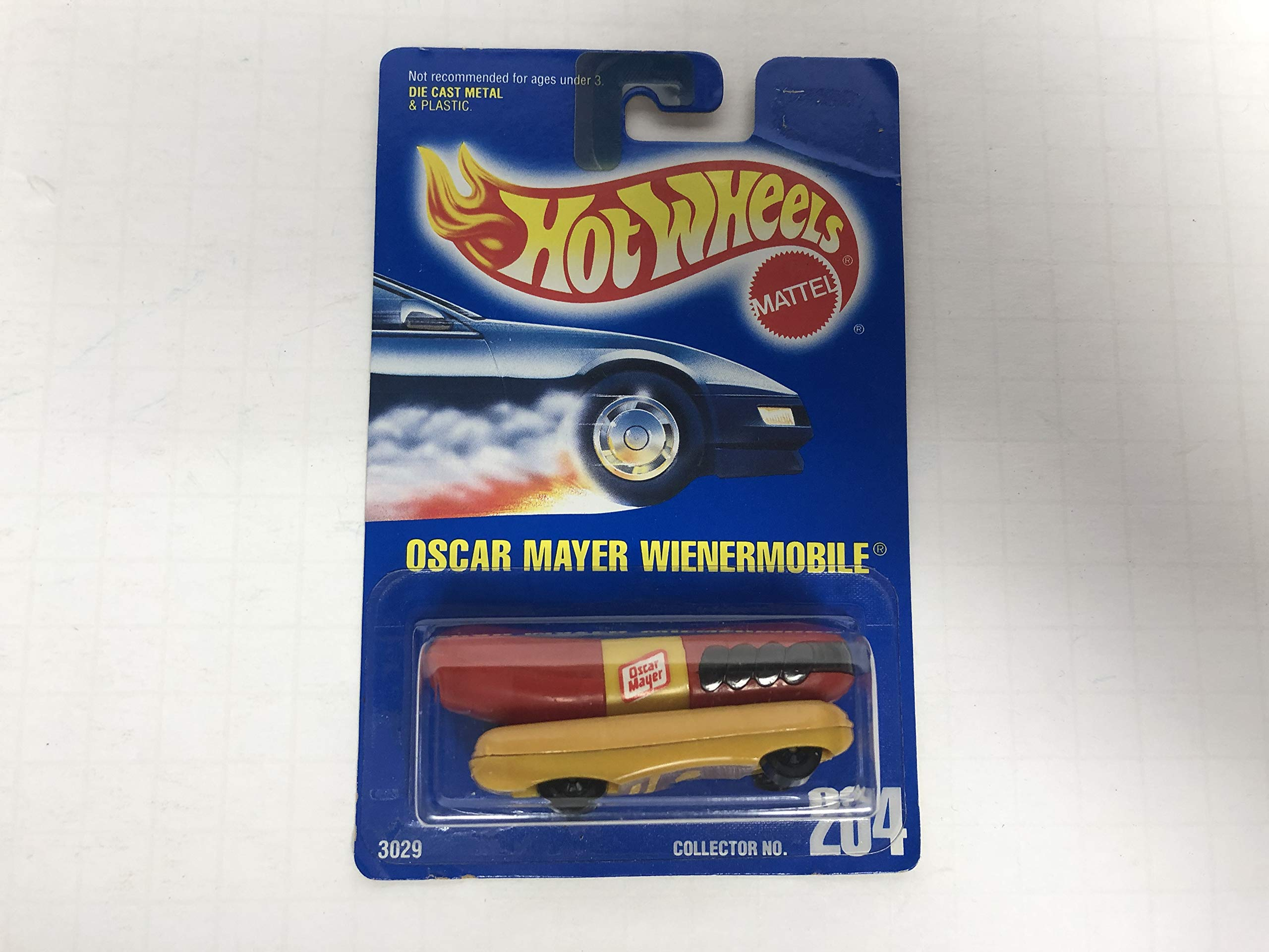 OSCAR MAYER WIENERMOBILE 1992 Hot Wheels Model Series No. 204 diecast car