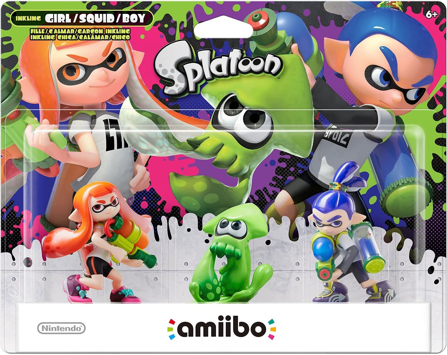 Amiibo - Splatoon Collection Triple Pack: Inkling-Mädchen / Girl ...