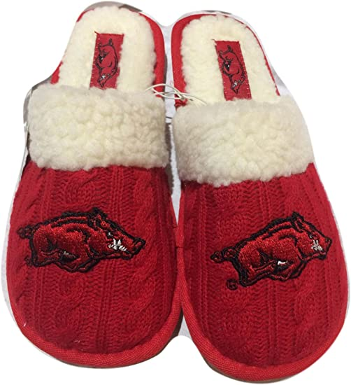 College Edition Womens Sweater Knit Slippers Pick Your Team