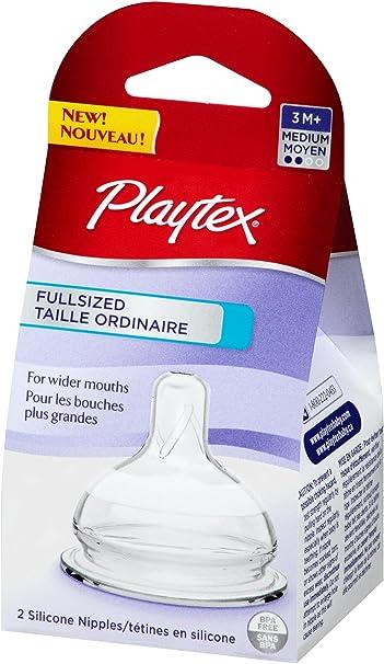 2 Packs total = 8 Count Style: Medium Flow 2 Sets Baby /& Child Shop 4-Count Medium Flow Model: Playtex Nipple Variety Kit