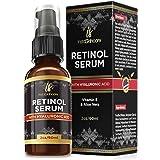 Retinol serum for skin (2oz) with Hyaluronic Acid + Vitamin A and E + Aloe Vera Anti aging moisturizer - Fade Dark Spots - Clinical Strength Formula