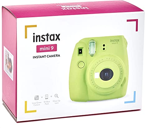 Fujifilm Pack Instax Mini 9 Verde limón + 1 película (10 Fundas): Amazon.es: Electrónica