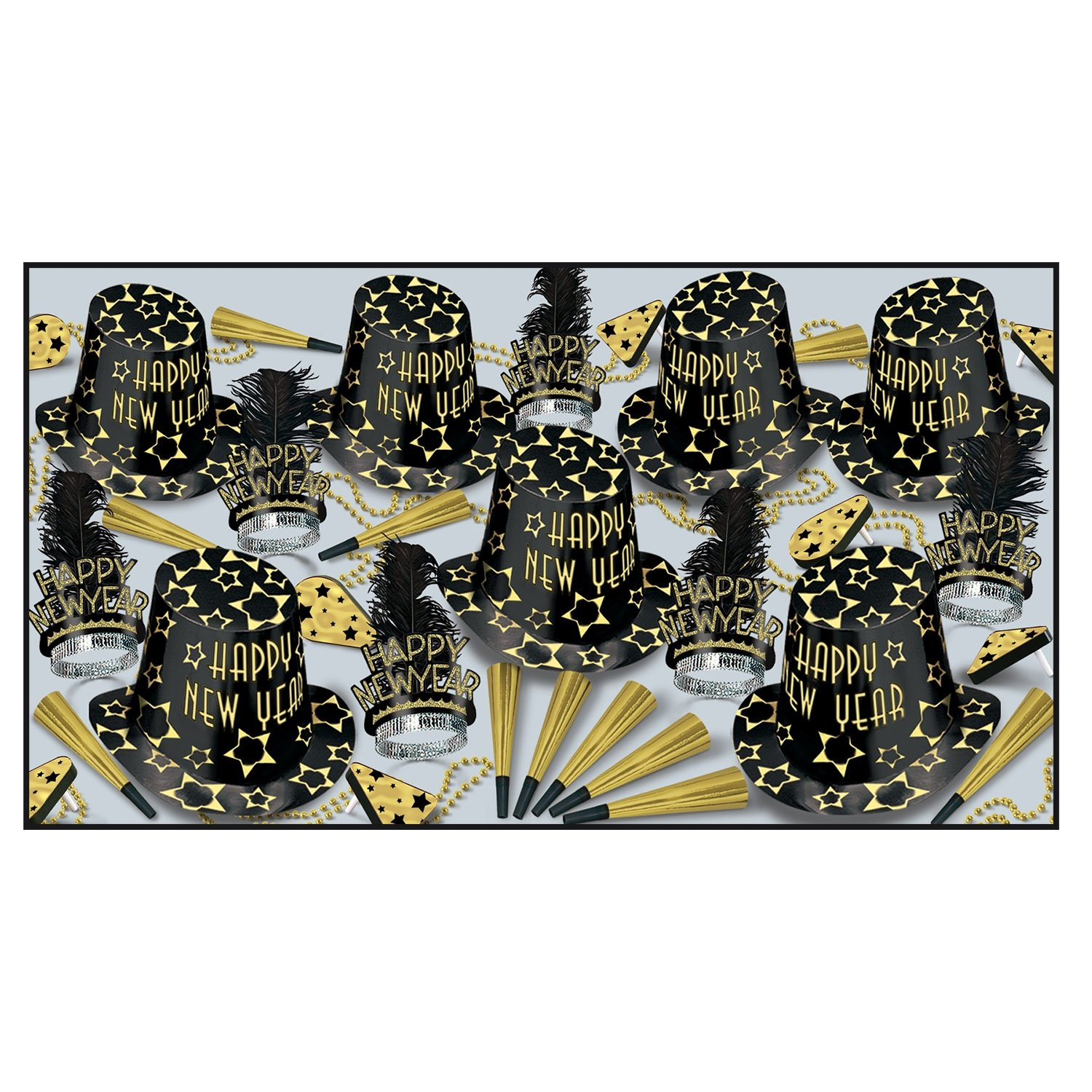 Black Gold Asst for 50 Party Accessory (1 count)