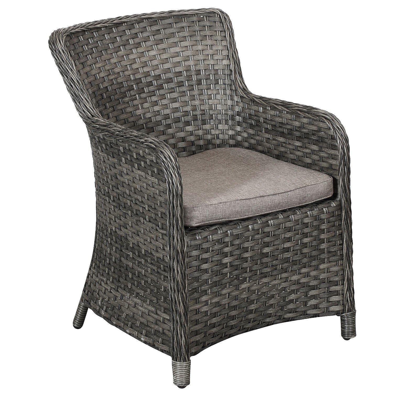 hochwertiger poly rattan relaxsessel gartensessel loungesessel rattansessel 61x61x86cm. Black Bedroom Furniture Sets. Home Design Ideas