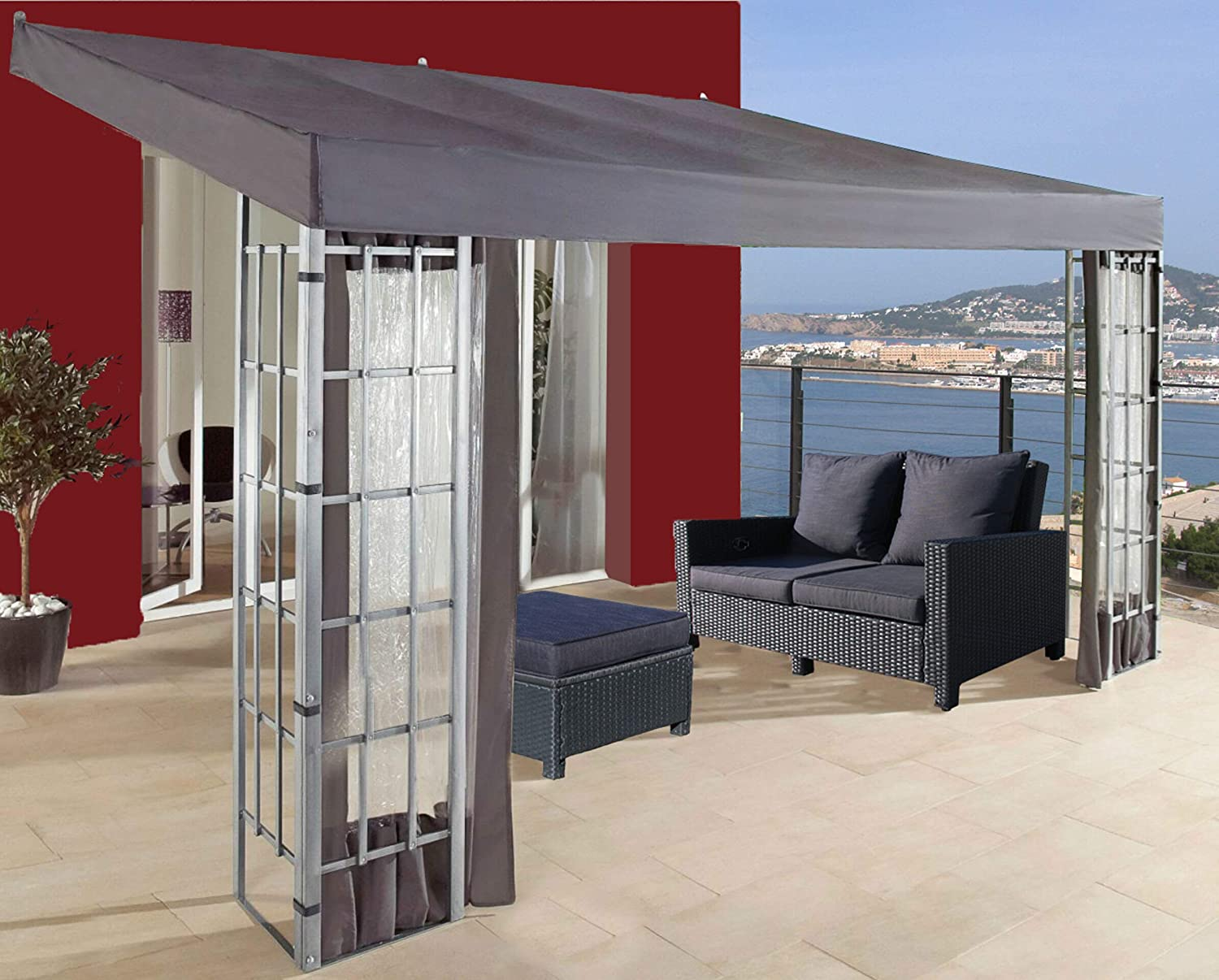 QUICK STAR 3 Paredes Laterales para Tienda de Pared Pergola 3x4m ...