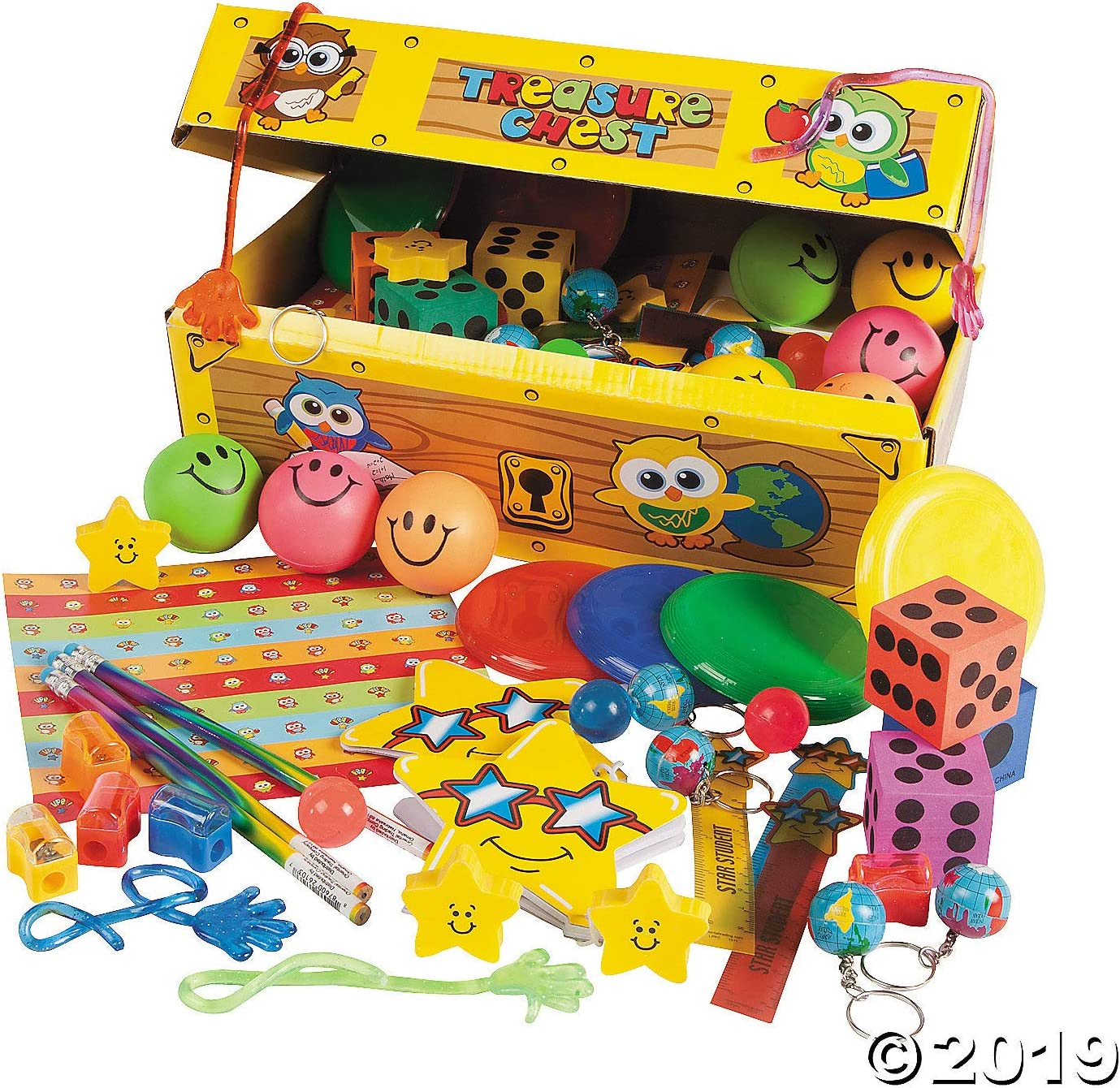 Treasure Chest with Toy Assortment 100 Pieces