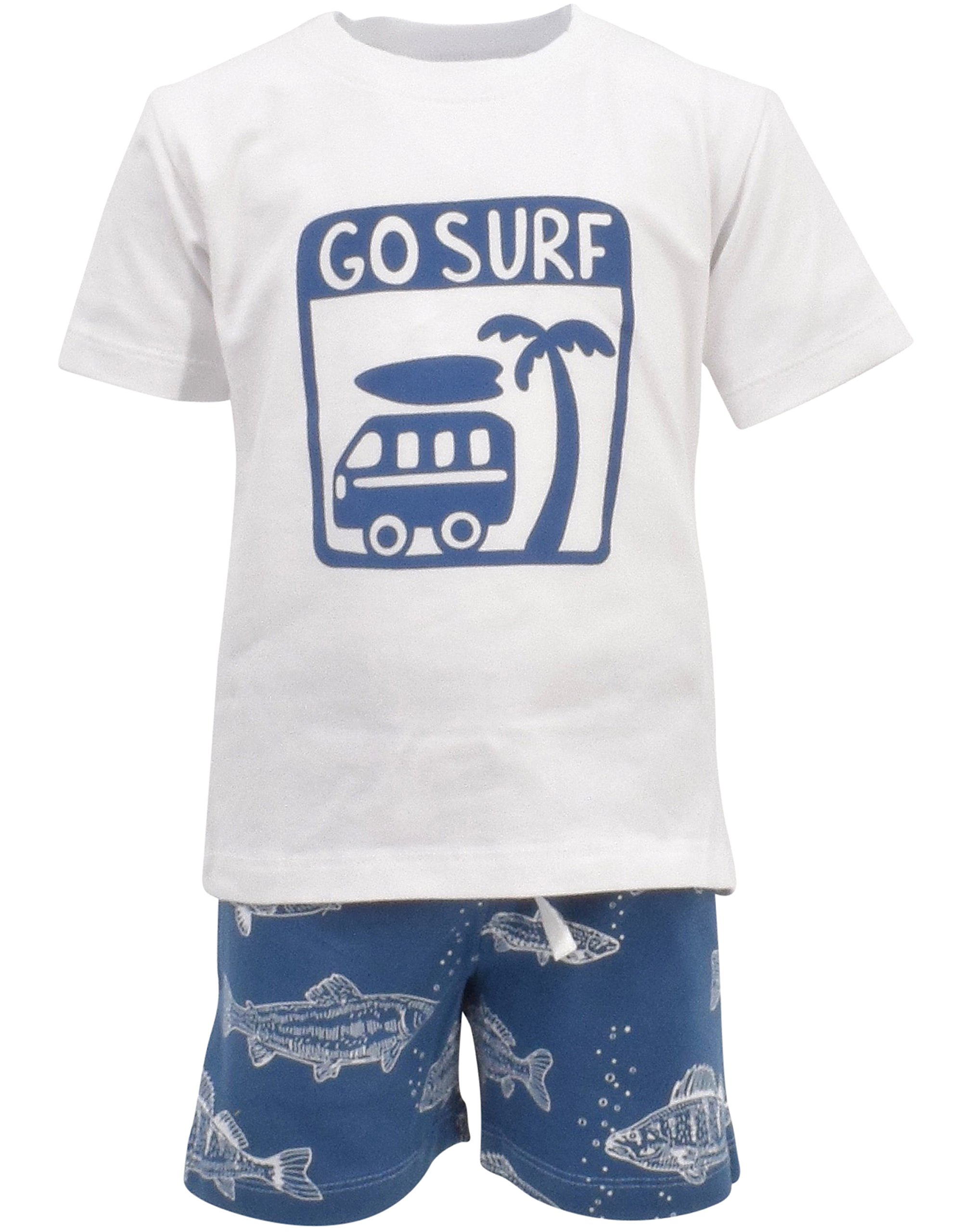 Unique Baby Boys Go Surf 2 Piece Summer Outfit (8)