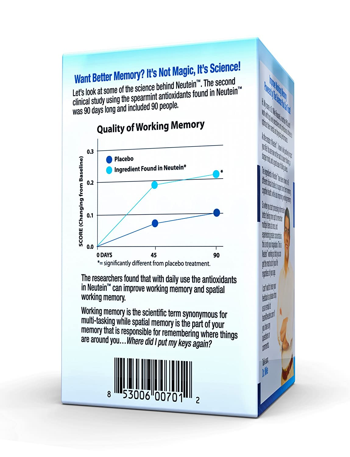Amazon.com: Neutein Natural Memory Support, PhD Formulated Cognitive Health Support 60 Caps: Health & Personal Care