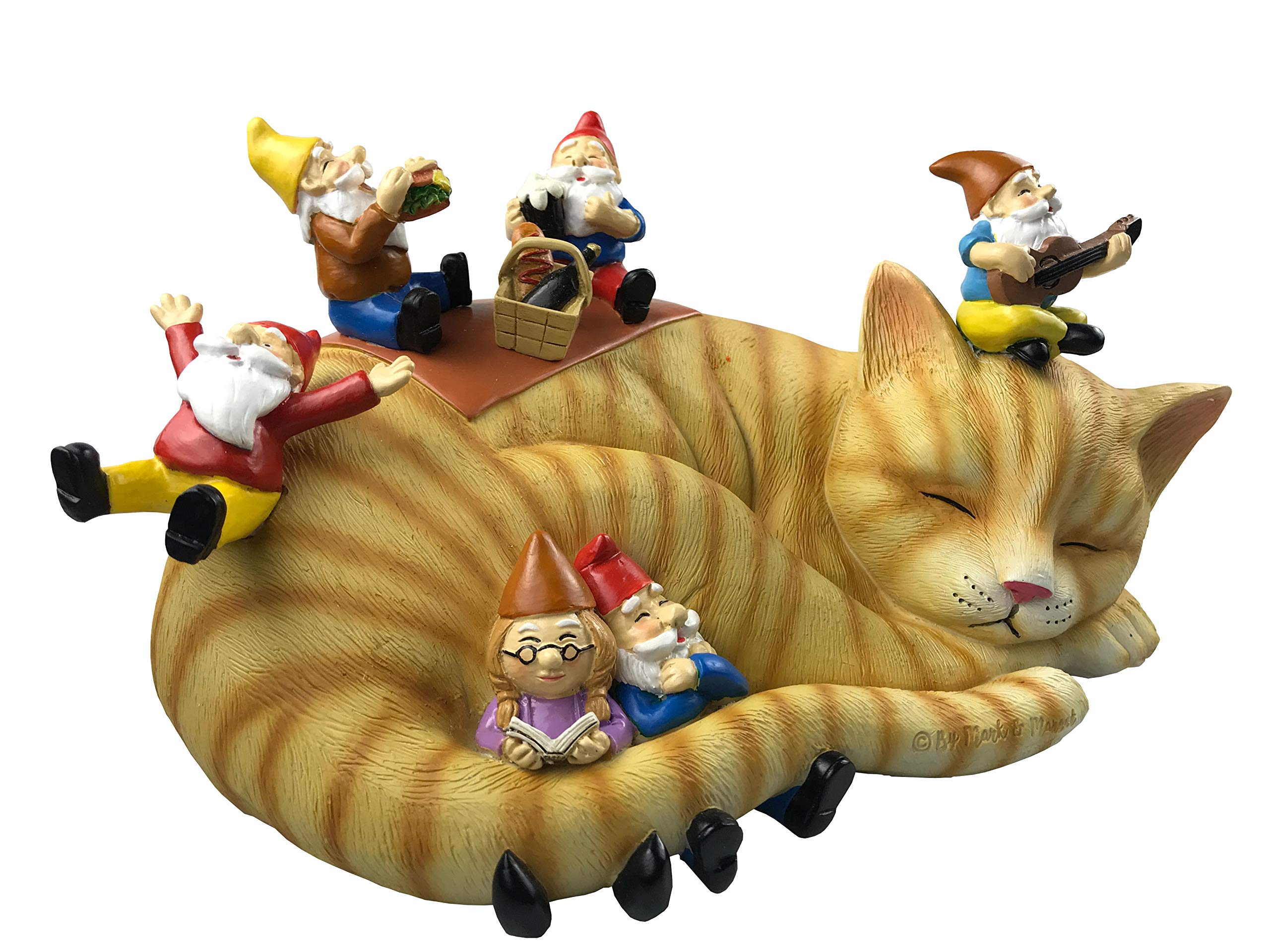"BigMouth Inc 9/"" Tall Makes a Great Gag Gift Funny Weatherproof Garden Decoration Crazy Cat Lady Garden Gnome"