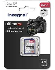 Integral 64GB SD Card 4K Ultra-HD Video Premium High Speed Memory Card SDXC Up To 100MB/S V30 UHS-I U3 C10