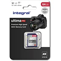 Integral 64GB SD card Premium 4K High Speed memory SDXC Up to 100MB/s V30 UHS-I U3