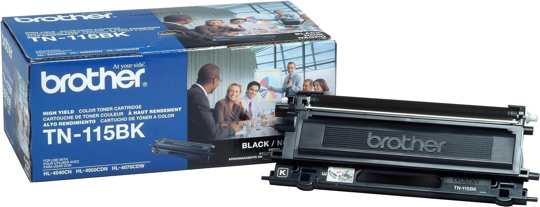 Brother TN115BK High Yield Black Toner Cartridge - Retail Packaging