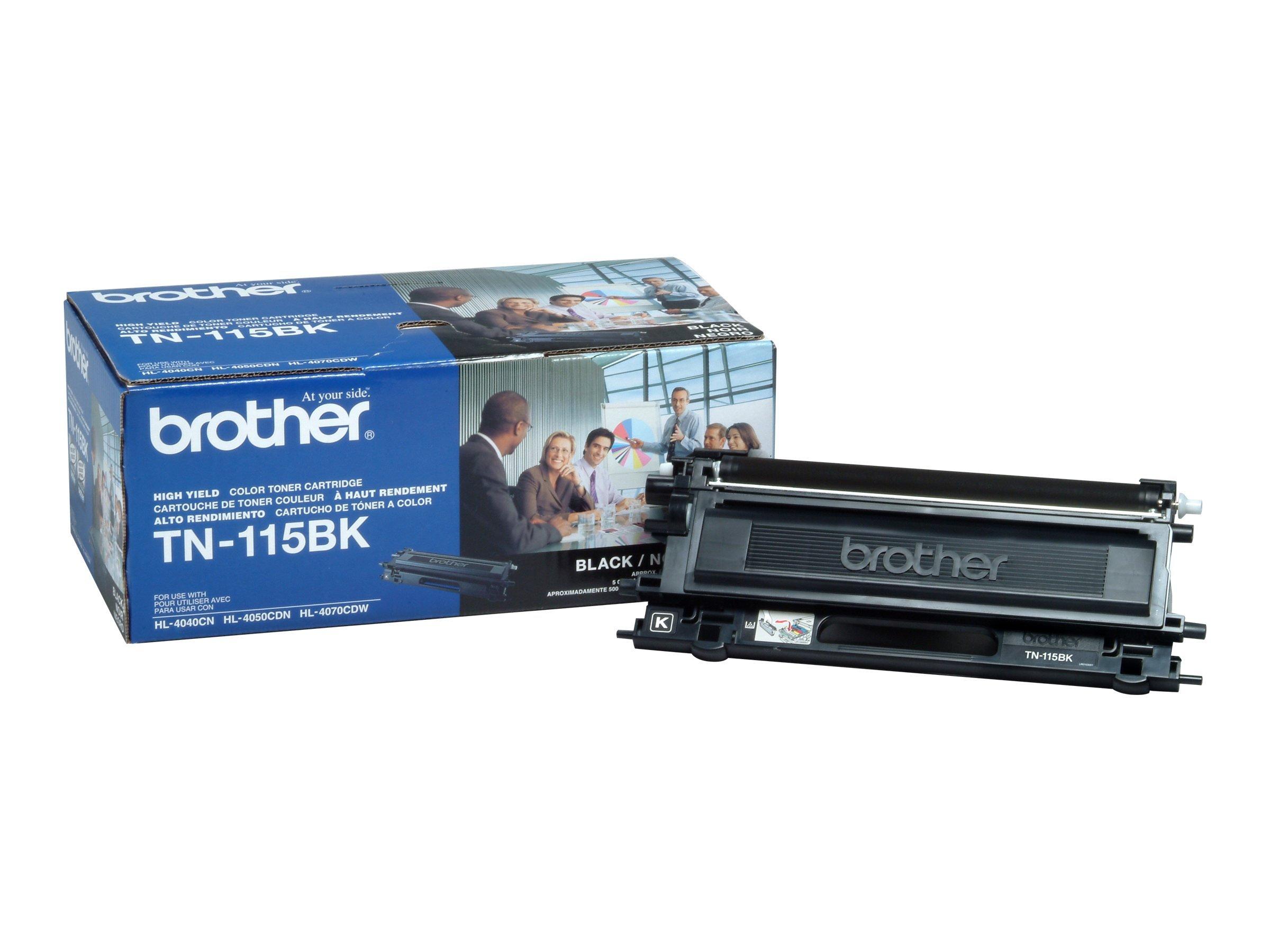 Brother TN-115BK High Yield Black Toner Cartridge for Brother HL4040CN,HL4070CDW Series