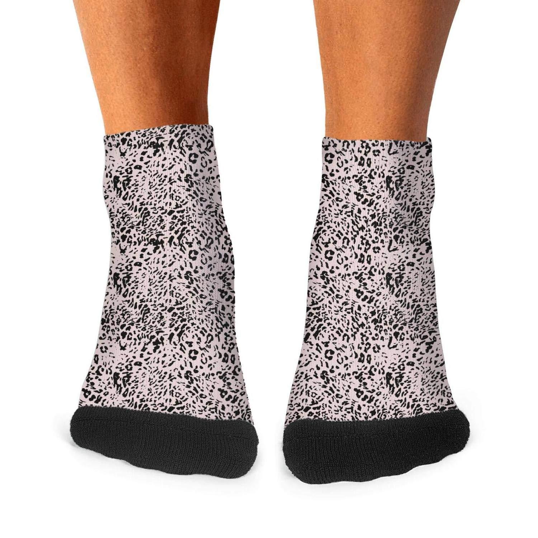 Leopard cheetah print Olive green mens socks casual durable compression socks fashion short socks Unisex