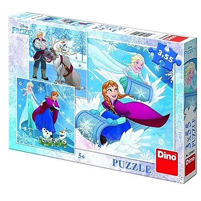 Dino Toys Dino Toys335189Winter Fun la Reine des neiges 3puzzle (54p)