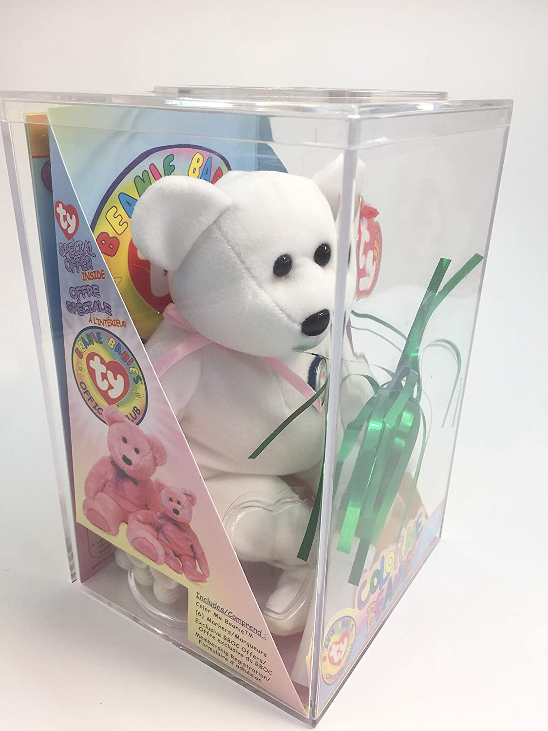 e7c77b82ee1 Amazon.com  TY Beanie Baby - COLOR ME BEANIE   TEDDY BEAR   (Complete Kit)  (original color me beanie)  Toys   Games