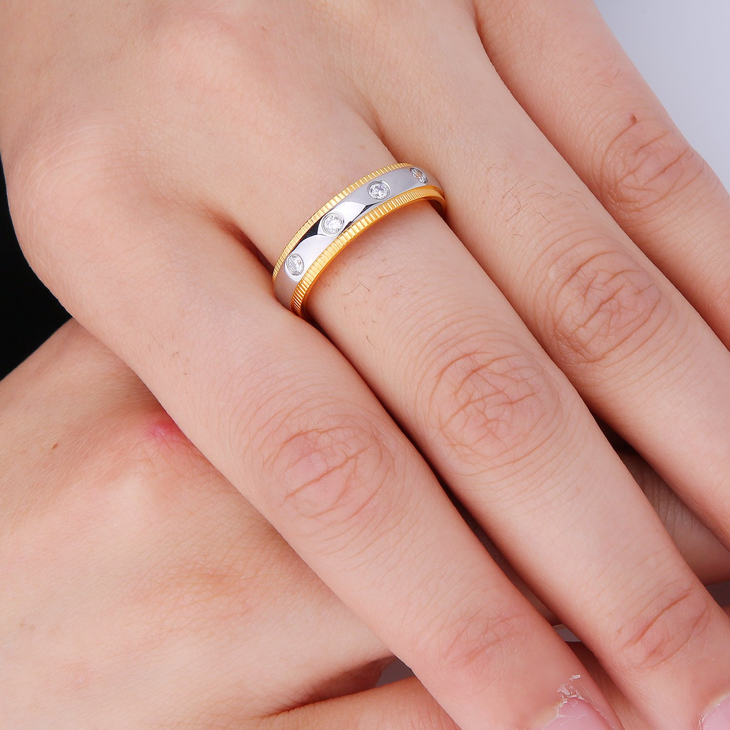 Amazon.com: Shefine CZ Wedding Ring Sets Free Engraved Jewelry ...