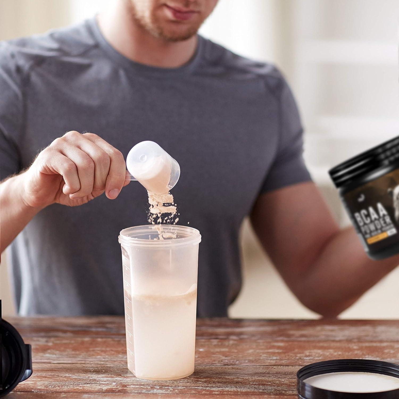 nu3 BCAA en polvo - 400g de aminoácidos ramificados con sabor iced tea - Proporción óptima de leucina, isoleucina y valina 2:1:1 - Suplemento ...