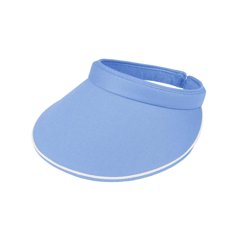 MG Women's Cotton Twill Clip-On Visor-4115 4115-BLACK
